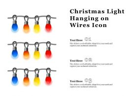 Christmas Light Hanging On Wires Icon