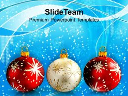 Christmas Lights Vintage Balls Powerpoint Templates Ppt Backgrounds For Slides