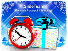 Christmas Message Bells Gifts With Alarm Clock Festival Powerpoint Templates And Themes