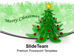 Christmas Nativity Free 3d Wonderful Tree Design Templates Ppt Backgrounds For Slides