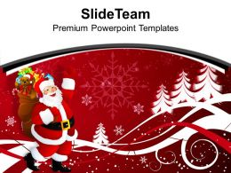 Christmas Nativity Free Santa Claus With Gifts Eve Powerpoint Templates Ppt Backgrounds For Slides