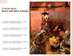 Christmas Nativity Scene With Barn Animals