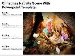 Christmas Nativity Scene With Powerpoint Template