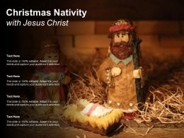Christmas Nativity With Jesus Christ