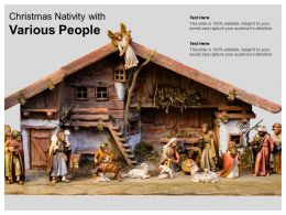 Christmas Nativity With Various People