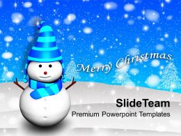 Christmas Ornament 3d Snowman Holidays Powerpoint Templates Ppt Backgrounds For Slides