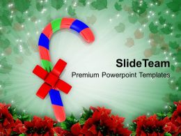 Christmas Ornament Candies On Background Powerpoint Templates Ppt Backgrounds For Slides