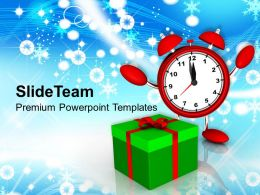 Christmas Ornament Celebrating With Gift Festival Powerpoint Templates Ppt Backgrounds For Slides
