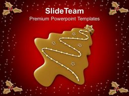 Christmas Ornament Chocolate Cookies Holidays Powerpoint Templates Ppt Backgrounds For Slides