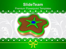 Christmas Ornament Chocolate Cookies Powerpoint Templates Ppt Backgrounds For Slides