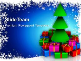 Christmas Ornament Tree With Gifts Powerpoint Templates Ppt Backgrounds For Slides