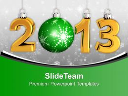Christmas Ornaments New Year Concept PowerPoint Templates PPT Themes And Graphics