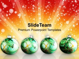 Christmas Pics Clip Art Glowing Ornaments With Abstract Templates Ppt For Slides Powerpoint