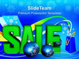 Christmas Pics Merry Sale And Ornaments Shopping Powerpoint Templates Ppt Backgrounds For Slides