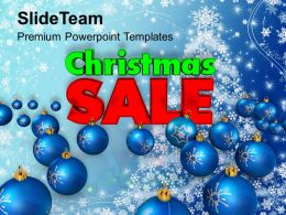 Christmas Pictures Of Jesus Sale With Blue Balls Holidays Templates Ppt Backgrounds For Slides