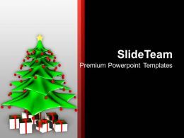 Christmas Pictures Ornament Wonderful Tree With Gifts Powerpoint Templates Ppt Backgrounds For Slides