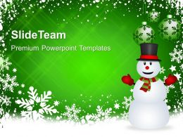 Christmas Pictures Trees Background And Snowman Holidays Templates Ppt Backgrounds For Slides