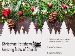 Christmas Ppt Shows Amazing Facts Of Church