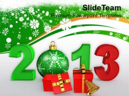 Christmas Present Carol And New Year Elements Events Templates Ppt For Slides Powerpoint