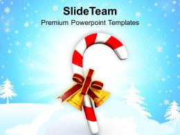 Christmas Present Carol Candies Bells Events Powerpoint Templates Ppt Backgrounds For Slides
