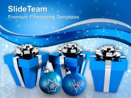 Christmas Present Clip Art Gift Boxes With Decorations Festival Templates Ppt For Slides Powerpoint