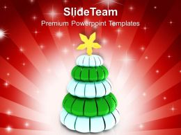 Christmas Present Clip Art Glittery Pine Tree Powerpoint Templates Ppt Backgrounds For Slides