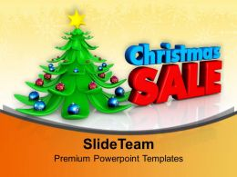 Christmas Present Wreath Decorative Tree With Sale Abstract Templates Ppt For Slides Powerpoint