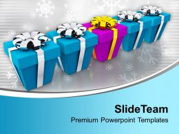 Christmas Presents Festival PowerPoint Templates PPT Themes And Graphics 0113