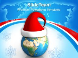 Christmas Presents Party Merry World Globe Powerpoint Templates Ppt Backgrounds For Slides