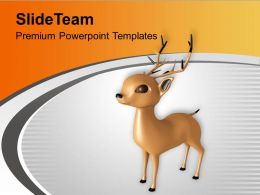 Christmas Reindeer Winter Holidays PowerPoint Templates PPT Themes And Graphics