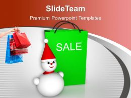 Christmas Sale Bags Winter Items Discount Powerpoint Templates Ppt Themes And Graphics 0113