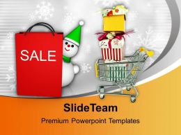 Christmas Sale Basket Full Of Items Powerpoint Templates Ppt Themes And Graphics 0113