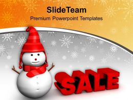 Christmas Sale Concept Winter Shopping PowerPoint Templates PPT Themes And Graphics