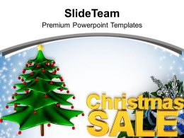 Christmas Sale Holidays Background PowerPoint Templates PPT Backgrounds For Slides 0113