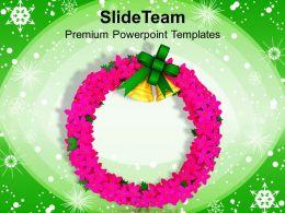 Christmas Sermons Clip Art Wreath Decoration Festival Powerpoint Templates Backgrounds For Slides