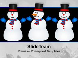 Christmas Snowmen Holidays PowerPoint Templates PPT Themes And Graphics