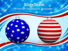 Christmas Stocking Vintage Balls Americana Powerpoint Templates Ppt Backgrounds For Slides