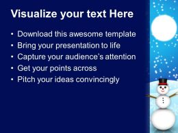 Christmas Stocking Winter Snowman Holidays Powerpoint Templates Ppt Backgrounds For Slides