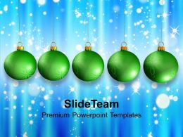 Christmas Tree Carol Green Baubles With Abstract Powerpoint Templates Ppt Backgrounds For Slides