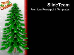 Christmas Tree Celebration PowerPoint Templates PPT Themes And Graphics 0113