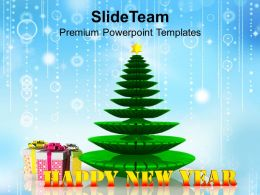 Christmas tree New Year PowerPoint Templates PPT Backgrounds For Slides 1113