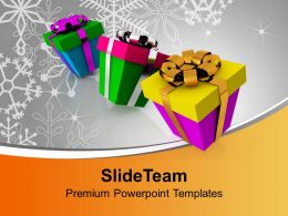 Christmas Tree Pictures Clip Art Colorful Presents Concept Powerpoint Templates Ppt For Slides