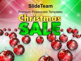 Christmas Tree Pictures Clipart Ornaments Sale Shopping Powerpoint Templates Ppt Backgrounds For Slides