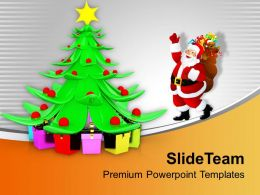 christmas_tree_pictures_happy_santa_claus_dancing_around_powerpoint_templates_ppt_for_slides_Slide01