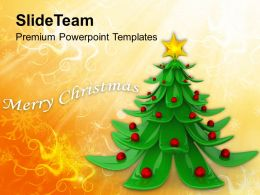 Christmas Tree Pictures Wreath Decorative With Background Templates Ppt For Slides Powerpoint