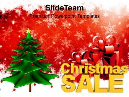 christmas_tree_pictures_wreath_decorative_with_gifts_and_sale_shopping_templates_ppt_for_slides_Slide01