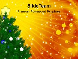 Christmas Tree Trees Decorative Celebration Powerpoint Templates Ppt Backgrounds For Slides