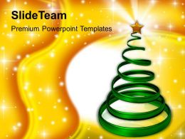 Christmas Tree Trees Decorative Events Powerpoint Templates Ppt Backgrounds For Slides