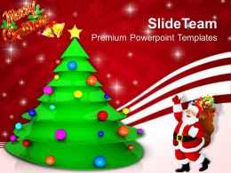 Christmas Tree Trees Decorative Festival Powerpoint Templates Ppt Backgrounds For Slide