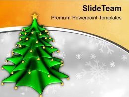 Christmas Tree With Bells Festival Celebration Powerpoint Templates Ppt Themes And Graphics 0113